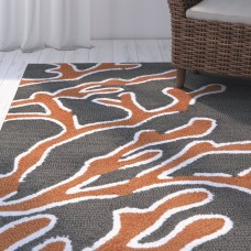 Highland Dunes Claysburg Tangerine Hand Tufted Indoor/Outdoor Rug HLDS3460