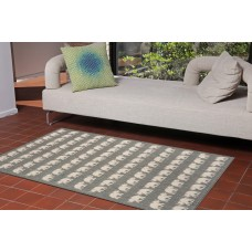 World Menagerie Slimane Silver Elephants Indoor/Outdoor Area Rug WDMG8717