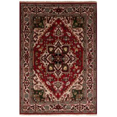 Bloomsbury Market One-of-a-Kind Larsen Hand-Knotted Wool Red Area Rug BLMT5942