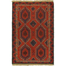 Bloomsbury Market One-of-a-Kind Mcdougle Hand-Knotted Wool Dark Burgundy/Black Area Rug BLMA2506