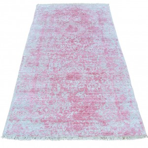 Bungalow Rose One-of-a-Kind Titus Broken Tone on Tone Hand-Knotted Pink Area Rug BGLS1429