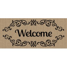 August Grove Liliane Welcome scroll Sassafras Doormat ATGR6816