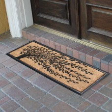 Red Barrel Studio Berenice Falling Leaves Molded Double Doormat RDBT6748