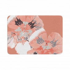 East Urban Home Graphic Flower Nasturtium by Love Midge Memory Foam Bath Mat ERBN5742
