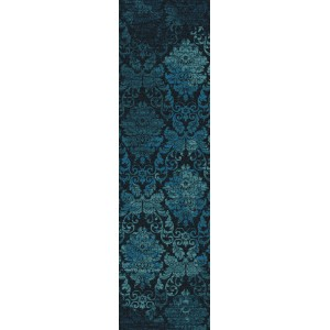 Bungalow Rose Tate Mystical Teal Area Rug BGRS1437