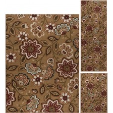 Red Barrel Studio Corrina 3 Piece Beige Area Rug RDBT4722