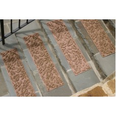 Bungalow Flooring Aqua Shield Medium Brown Fall Day Stair Tread WDK1427
