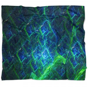 East Urban Home Electric Lightning Abstract Blanket ERBO5915