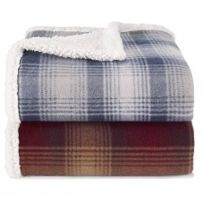Eddie Bauer Nordic Plaid Fleece Throw ERB1125