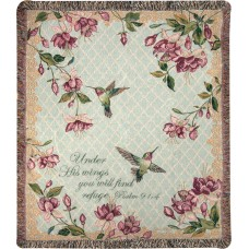 Manual Woodworkers Weavers Ruby's Among the Fuchsia's Verse Tapestry Cotton Throw MANU2221