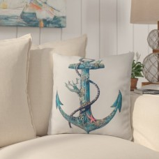 Breakwater Bay Edwards Anchor Outdoor Throw Pillow BKWT1315