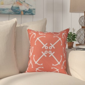 Breakwater Bay Hancock Anchor's Up Geometric Print Outdoor Throw Pillow BRWT2846