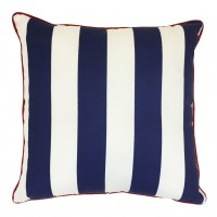 Easy Way Products Piiped Zip Outdoor Throw Pillow ESWY9430