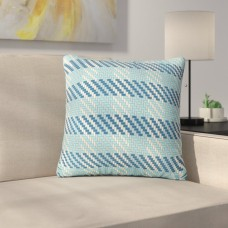 Ebern Designs Gipe Plaid Square Outdoor Throw Pillow EBDG6390