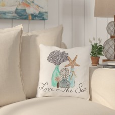 Highland Dunes Holsinger Love The Sea Outdoor Throw Pillow HIDN3927