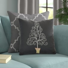 The Holiday Aisle Filigree Tree Outdoor Throw Pillow HLDY7439