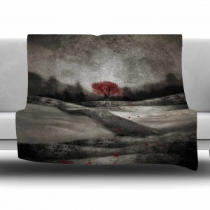 East Urban Home The Red Sounds And Poems 1 by Viviana Gonzalez Fleece Blanket EUBN7775