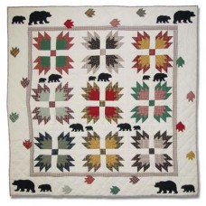 Patch Magic Bear's Paw Cotton Throw Quilt PMQ1158